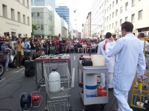 TU-Protest: Vorlesung auf der Straße
