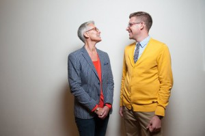 Queer-FeminisInnen unter sich: Tiina Rosenberg und Martin J. Gössl.  © Luiza Puiu