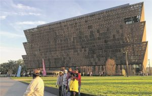 Das Design des Überbaus des N.M.A.A.H.C. erinnert an westafrikanische Textilien.© B. Figl